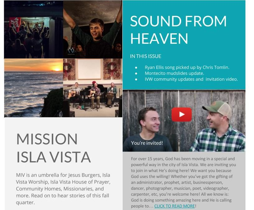 January 2018 – Sound From Heaven E-Newsletter