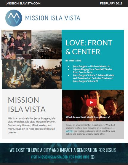 February 2018 – Love Front & Center E-Newsletter