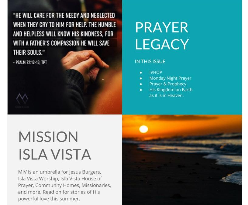 July E-Newsletter: Prayer Legacy