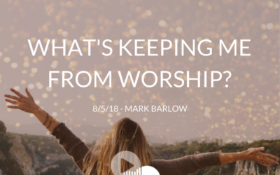 Sunday Sermon: What's Keeping Me From Worship – 8.5.18 – Mark Barlow