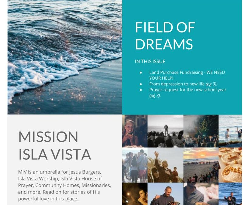 September E-Newsletter: Field of Dreams